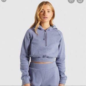 Cute Gymshark Cropped hoodie in slate blue